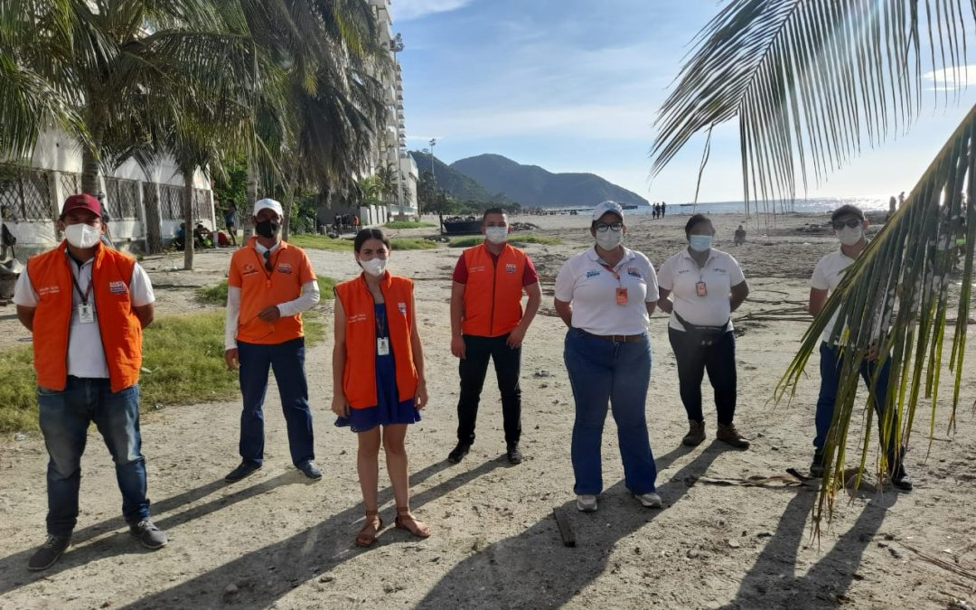 Más de 65 mil samarios y turistas disfrutaron de manera responsable y segura de los balnearios en Santa Marta