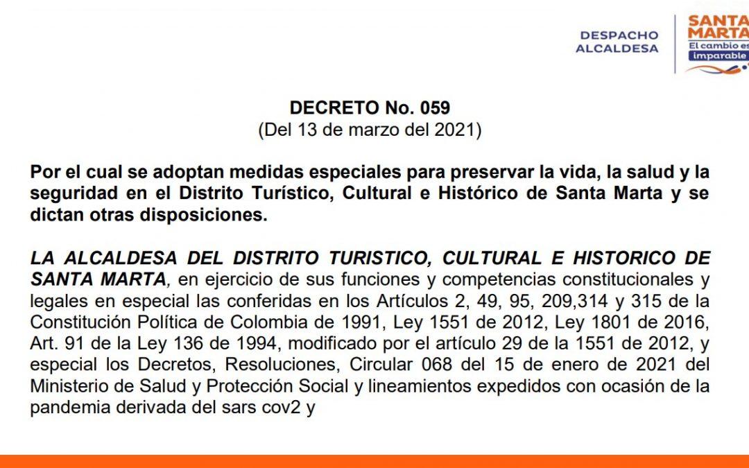 Alcaldía dicta nuevas medidas para contener propagación del covid-19